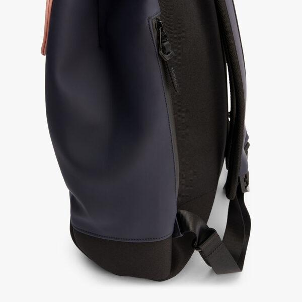 tretorn wings daypack navy heather rucksack marineblau hellkorall seitenîffnung