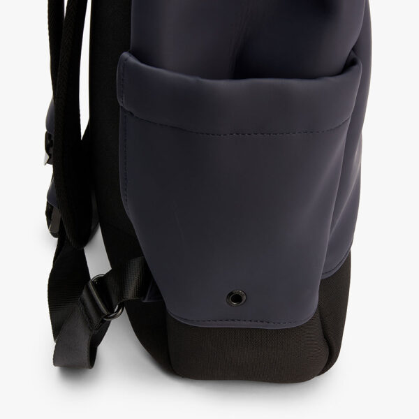 tretorn wings daypack navy heather rucksack marineblau hellkorall seitentasche